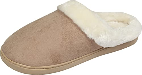 Luxehome Women's Cozy Fleece House Slippers