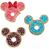 Disney Mickey and Minnie Mouse Donut Pin Set