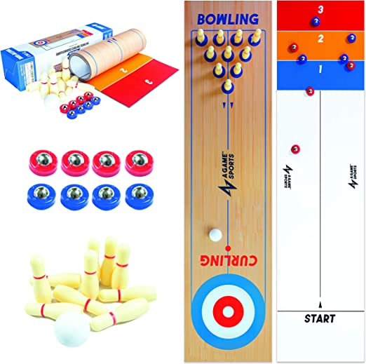 A Game Sports Table Top Shuffleboard - Best 3-in-1 Deal