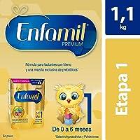 Enfamil 1, 1.1 kg, Fórmula Infantil para Bebés de 0 a 6 meses