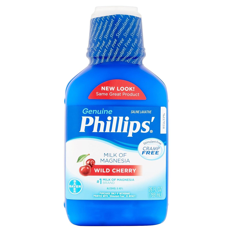 Amazon.com: Phillips Wild Cherry Milk of Magnesia Liquid, 26 Fl Oz (Pack of 2): Health & Personal Care