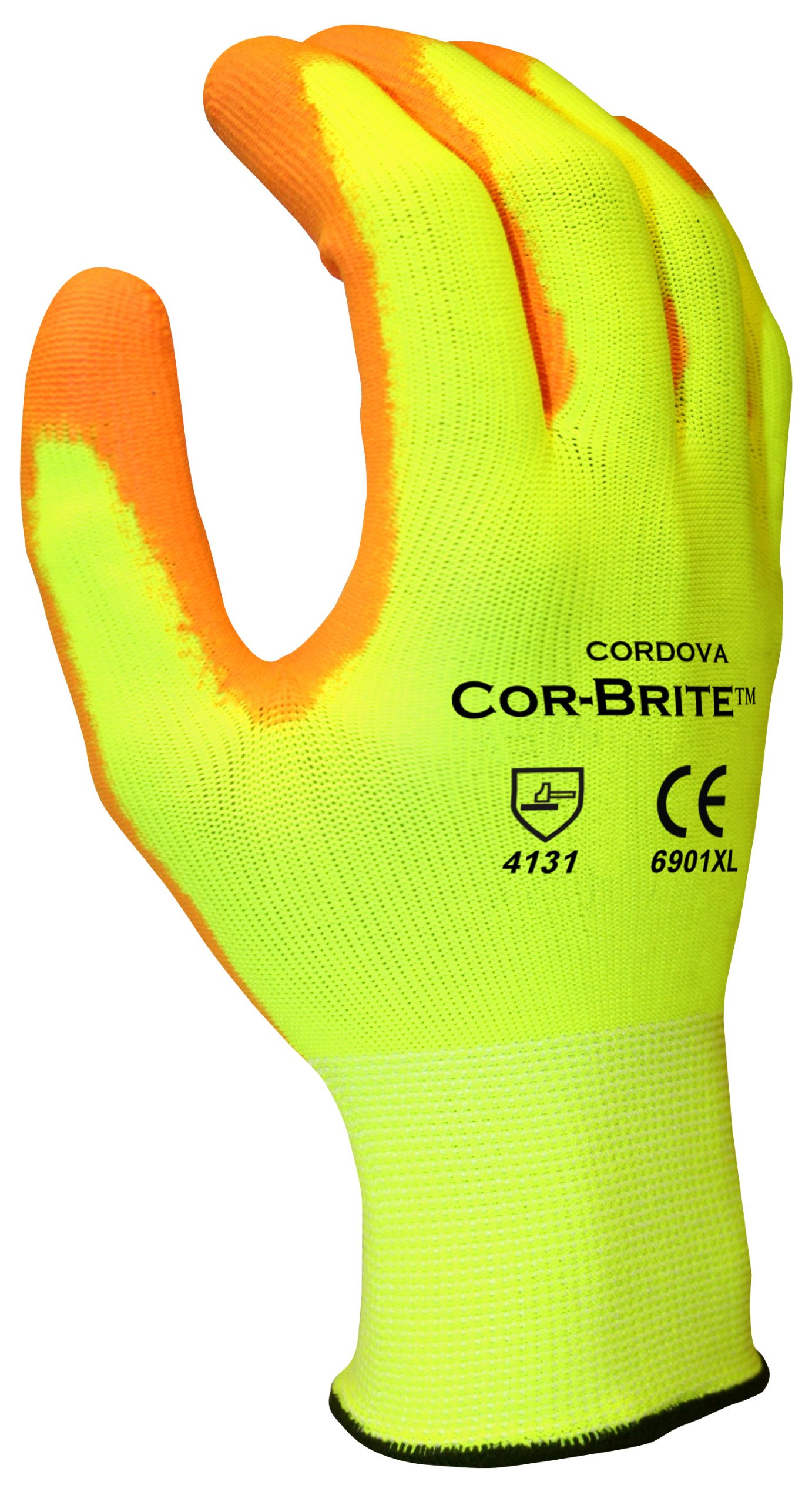 Cordova Safety Products 6901LC Cor-Brite 13 Gauge PU-Coated Polyester Work Gloves (Pack of 144 PR),