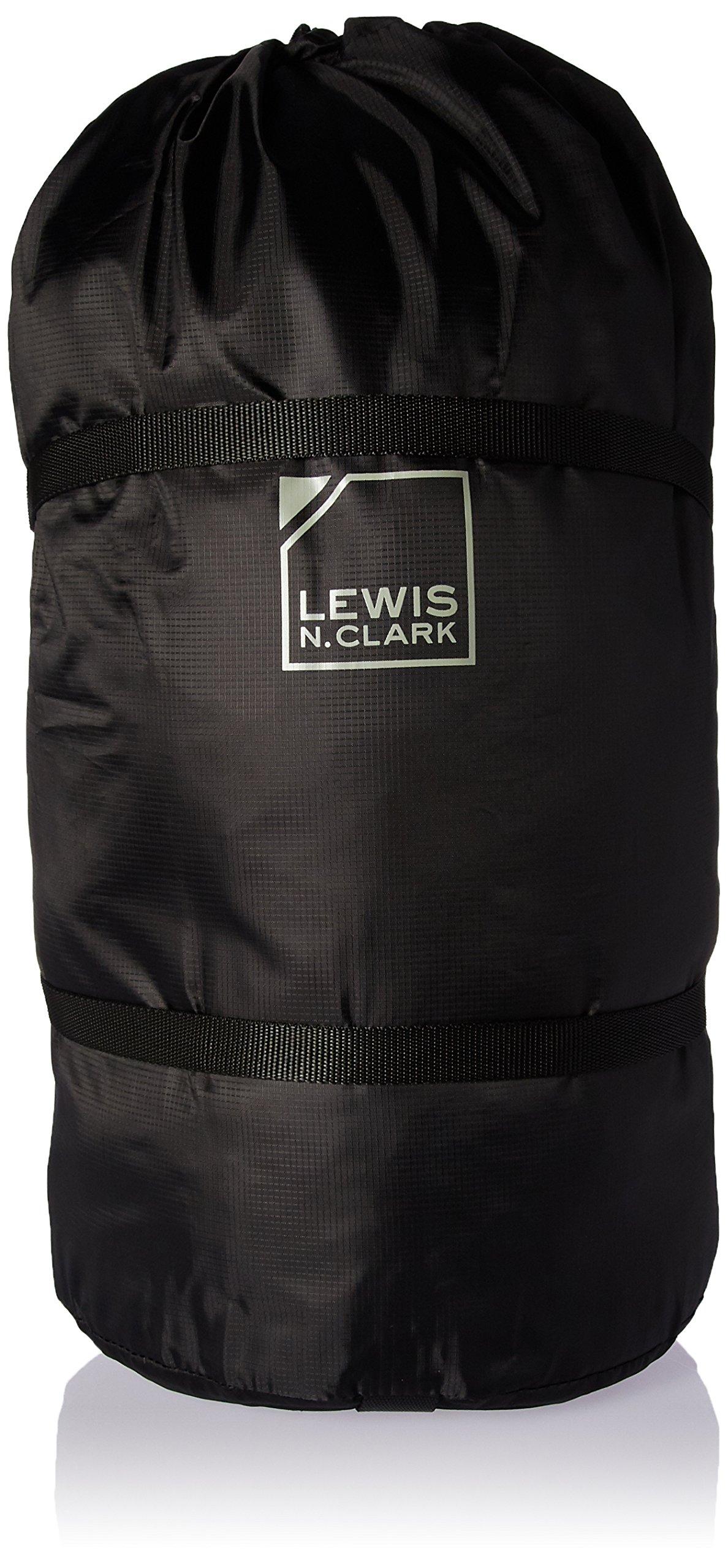 Lewis N. Clark Compression Bag 10'' X 20'' Drawstring, Black, One Size