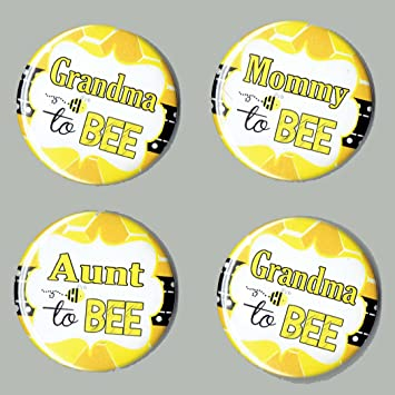 Baby Shower Mommy To Bee Theme Buttons SET Of 4