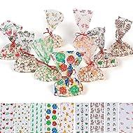 Christmas Cellophane Bags 9 dz assortmet - 108 pc by Fun Express
