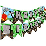 POP parties Pixel Party Happy Birthday Banner - Made in The USA - Blast