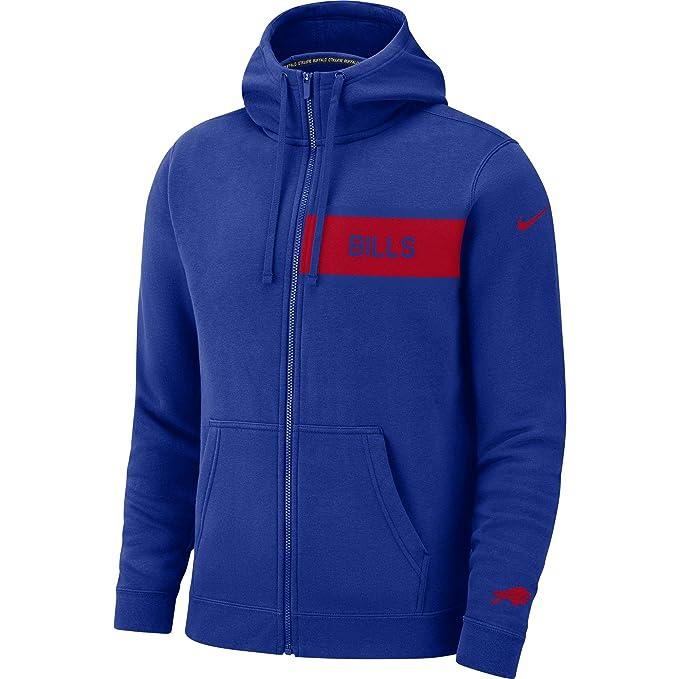 best sneakers dec19 35751 Nike Men's Buffalo Bills Full Zip Fleece Club Hoodie at ...