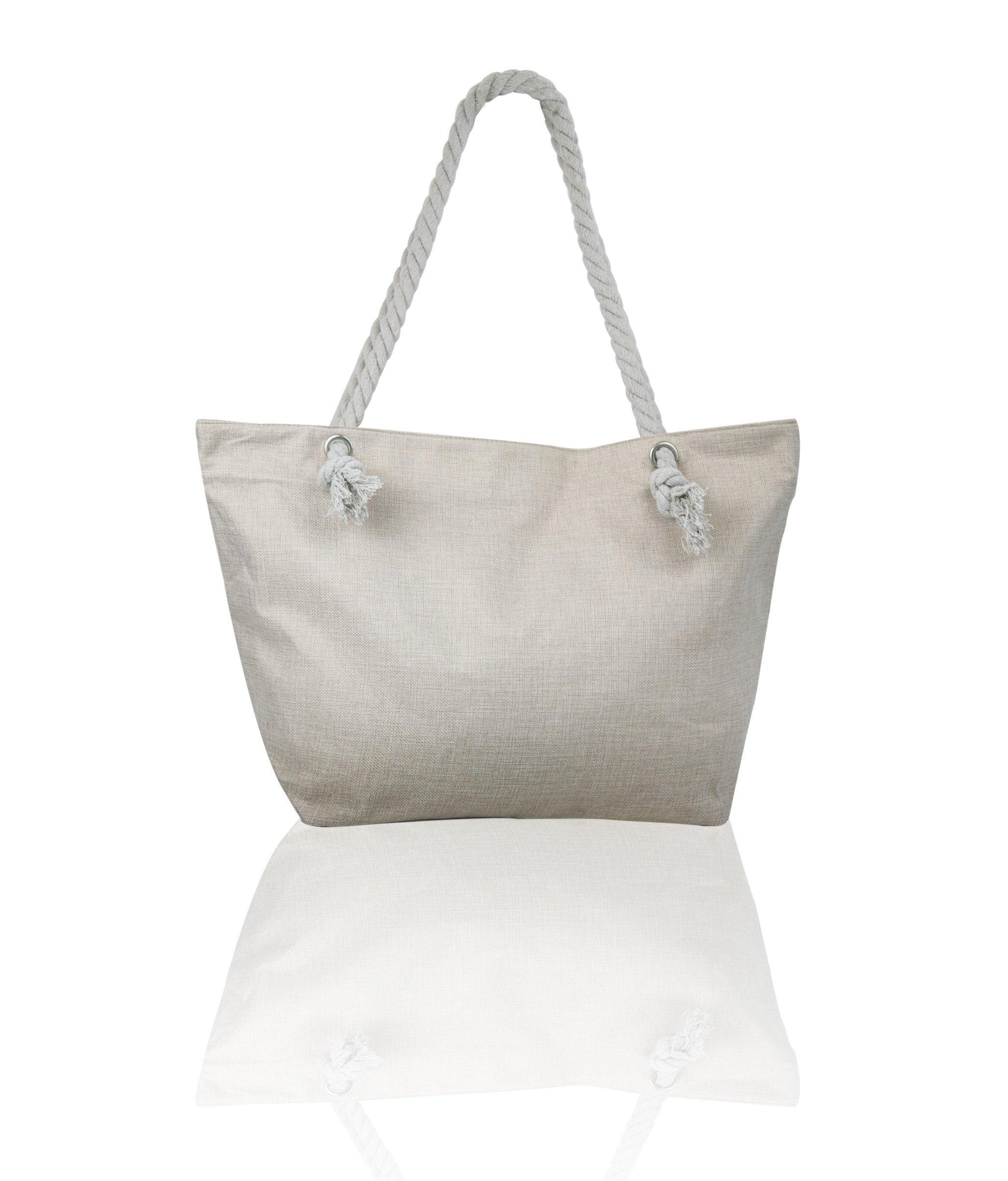 JJMG NEW Summer Beach Bag Stroller Friendly Women's Large Capacity Mom's Tote Beach Shoulder Bag With Rope Handles –Shopping Bag, Diaper Bag, Yoga Bag, Toys, Towels, Swim Suits, etc. by JJMG (Image #3)