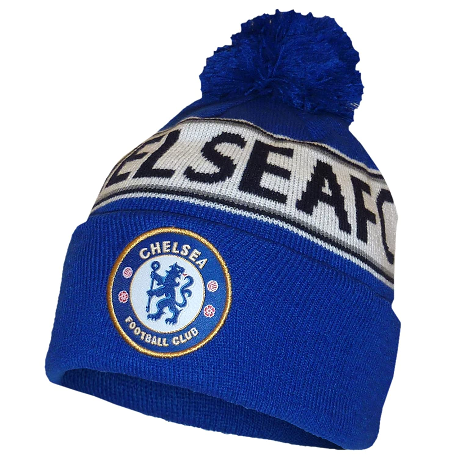 023b6c13001 Chelsea F.C. Knitted Bobble Hat  Amazon.co.uk  Sports   Outdoors