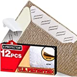 X-Protector Rug Grippers Best 12 pcs Anti Curling Rug Gripper. Keeps Your Rug in Place & Makes Corners Flat. Premium…