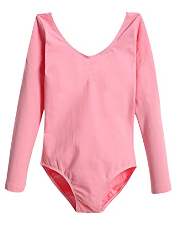 84ffaa0672069  Arshiner Kids Girl s Classics Long Sleeve Camisole Leotard (130(Age for 5-