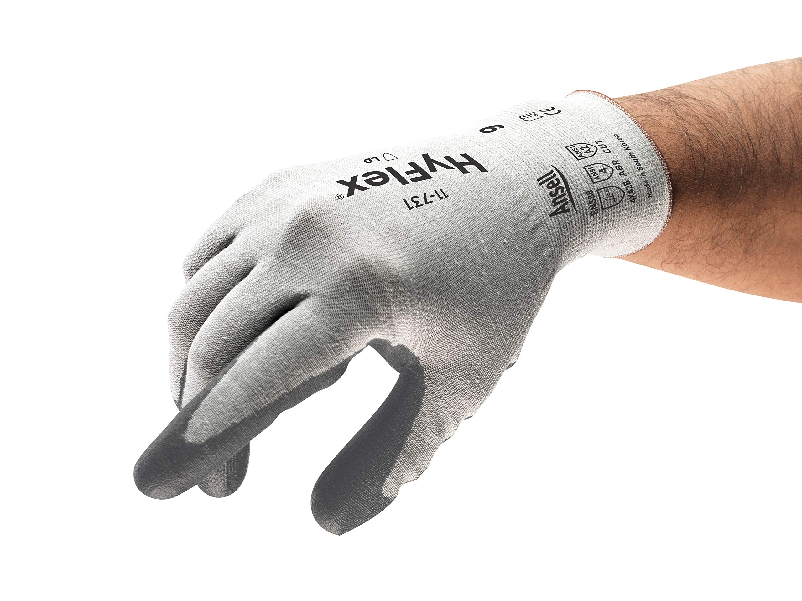 HyFlex 11-731 Light Duty Cut Resistant Gloves, Size 8 by Ansell (Image #1)