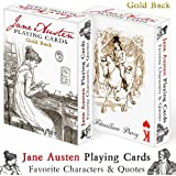 """Jane Austen Playing Cards """"Gold Back"""""""