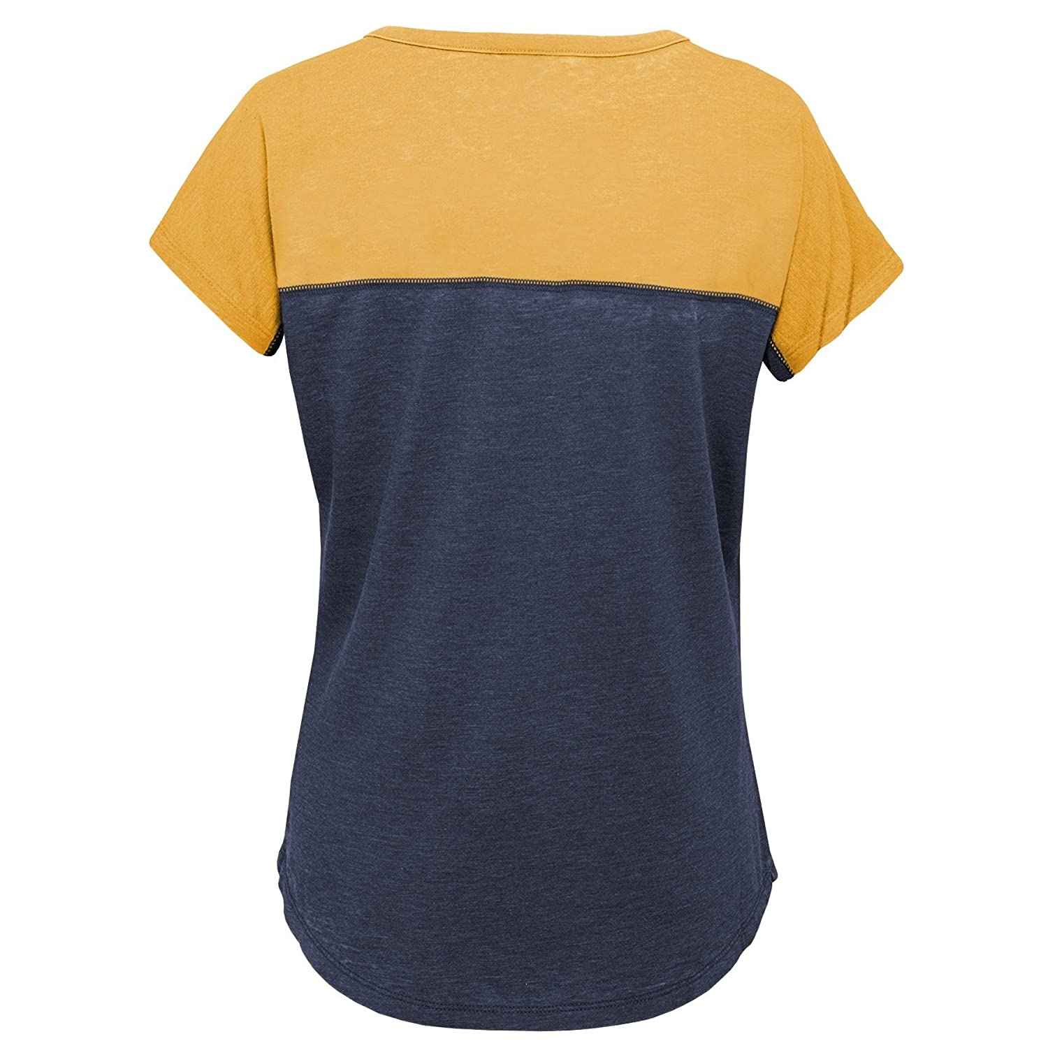 Youth Small Dark Navy NCAA by Outerstuff NCAA West Virginia Mountaineers Youth Girls Tribute Raglan Football Tee 7-8