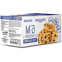 Galletas Altas en Proteina sabor Chocolate Chip MPB Suplemento Gym (Caja con 8 sobres con contenido de tres galletas de 24 g cada una), Snack de Proteina Post-Entrenamiento