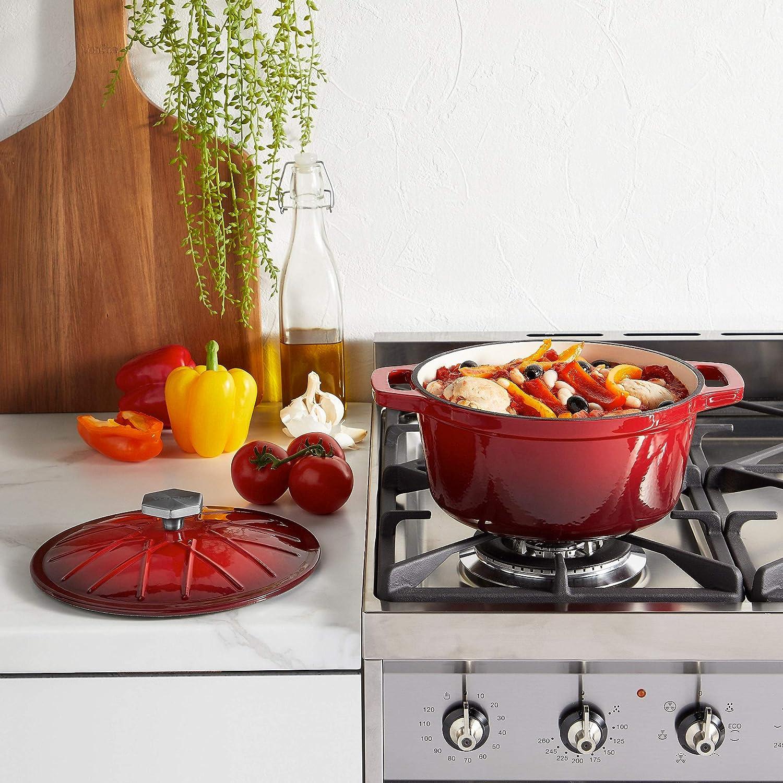 Amazon.com: Vonshef – Cacerola redonda, 4,5 l, hierro ...
