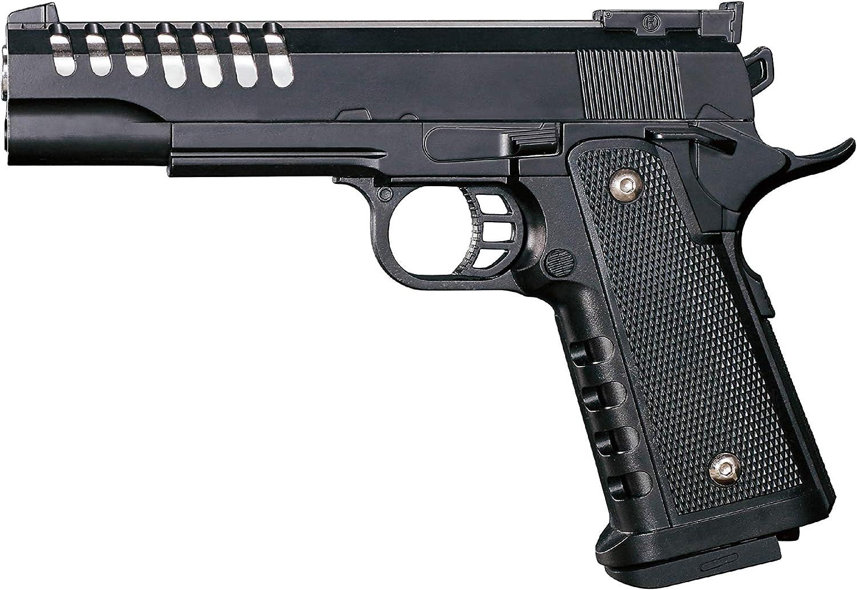 Rayline RV303 Pistola de Airsoft de Metal Negro (presión de Resorte) Peso 350 g, Calibre 6 mm, Color: Negro, (Menos de 0,5 Julios - a Partir de 14 años)