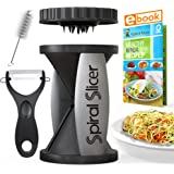 Spiral Slicer Vegetable Zoodle Spiralizer - Veggie Noodle Maker Pasta Cutter - With Kitchen Peeler Bundle