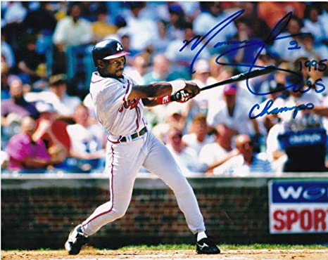 bb70aa522a4 Marquis Grissom Autographed Photograph - 1995 WS CHAMPS 8x10 - Autographed  MLB Photos