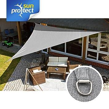 sunprotect 83227 Professional Toldo / Vela de Sombra, 5 x 5 x 5 m, Triángulo, gris: Amazon.es: Jardín