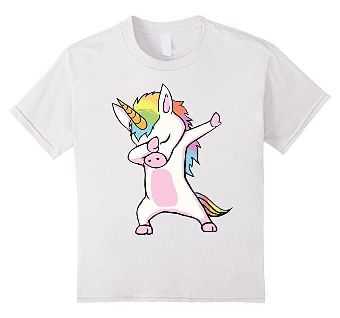 1771e4886 Image Unavailable. Image not available for. Color: unisex-child Unicorn cute  dabbing T-Shirt ...