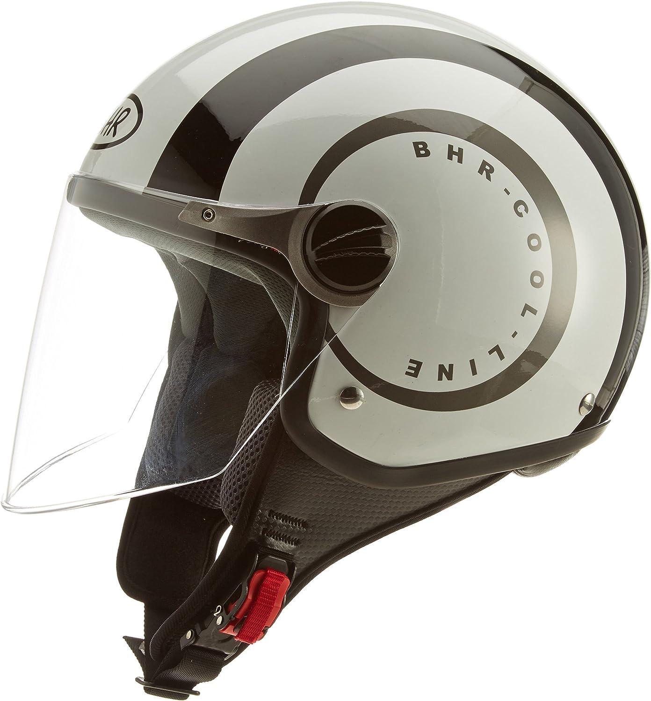 59//60 USA Flag BHR Helm 710 Demi Jet Casco