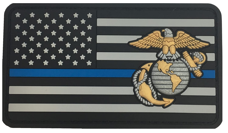 USMC EGAフラグブルーライン   B076J22LJL
