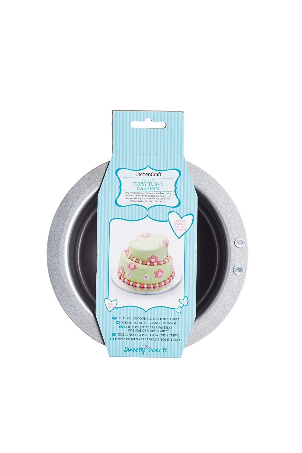 Kitchen Craft - 15 cm Sweetly Does It - Molde Antiadherente de Acero al Carbono EuroTins - Paleta para Tartas, Color Plateado: Amazon.es: Hogar