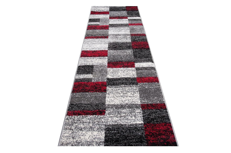Moderne Läufer Teppich Teppich Teppich Flur Brücke - Tolle Muster in GRAU - Teppichläufer TWIST Kollektion 100 x 500 cm b84dfe