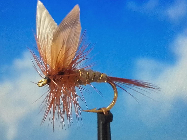 Trockenfliegen ' March Brown Dun ' 3er Set, Hakengrö ß e 18