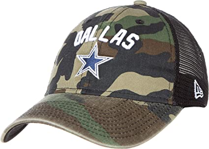 NEW Era adjustable Trucker Cap-Dallas Cowboys Wood Camo