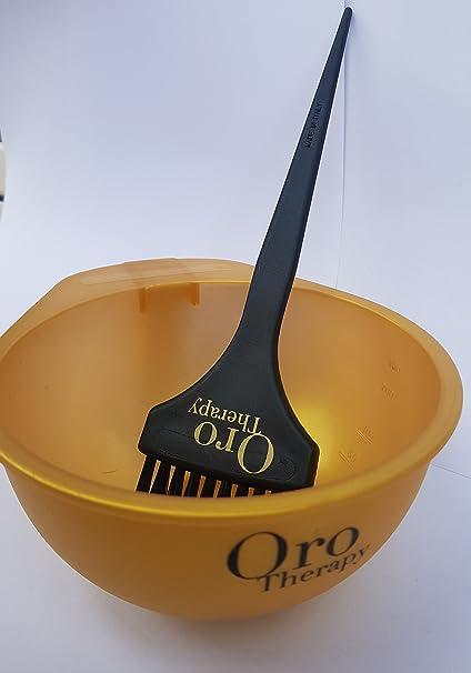 Fanola Oro Therapy - Cuenco + pincel para preparación de ...
