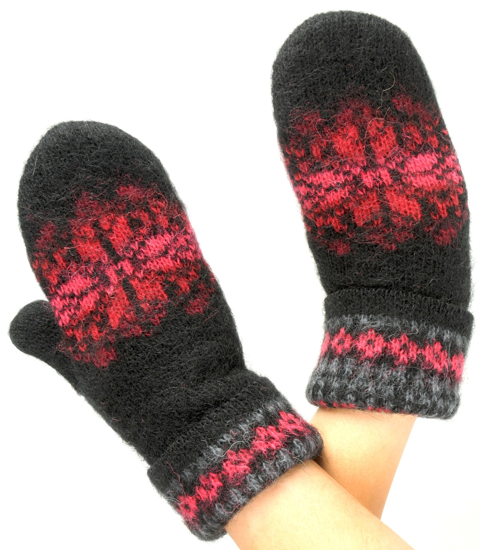 Wool Mittens for Women 100% Icelandic Wool Fleece Lined by Freyja Canada