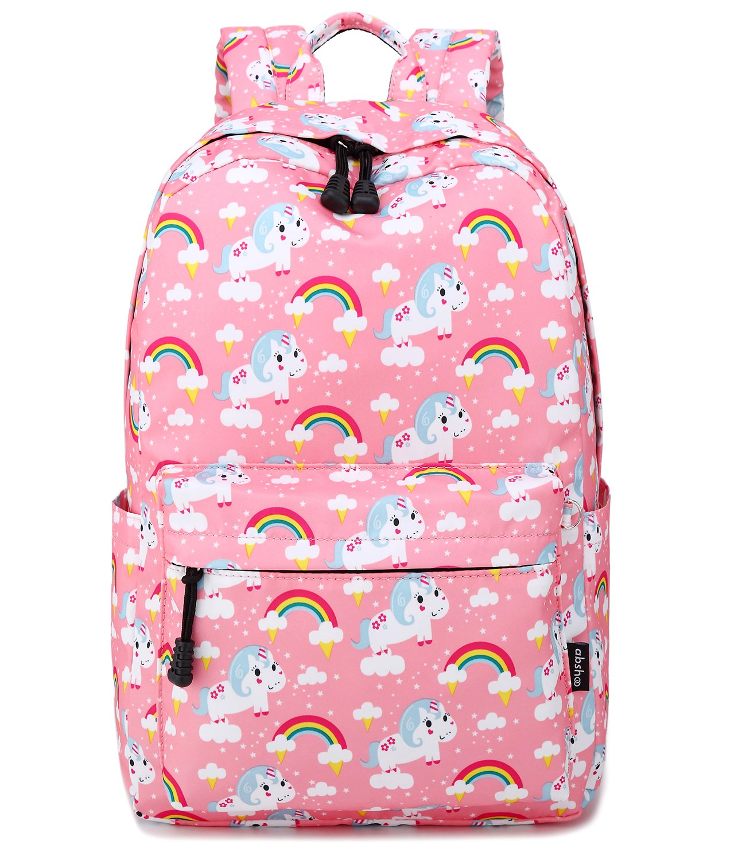 Abshoo Cute Lightweight Middle School Backpacks For Girls Unicorn Kids School Bags (Pink) by abshoo