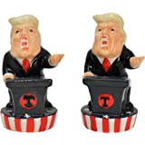 Home-X - Donald Trump Salt and Pepper Set, Fun Novelty Salt and Pepper Shakers add Spice to Any Meal