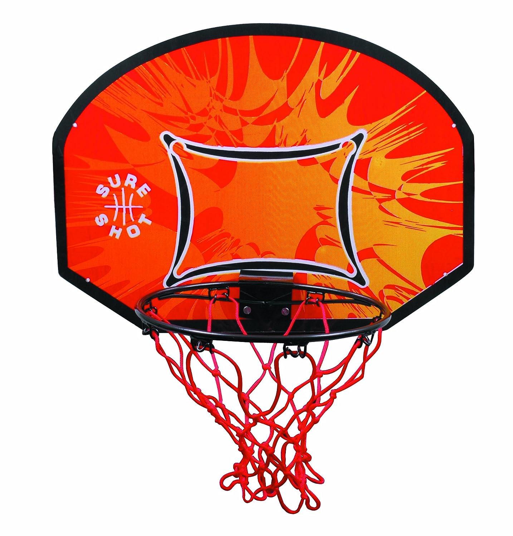 Sure Shot Kids Canasta de baloncesto para niños color naranja negro y