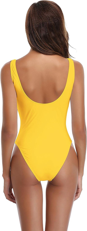 SHEKIINI Mujer Deep V Retro Traje de Baño de Una Pieze Impresión Monokini con Shorts: Amazon.es: Ropa y accesorios