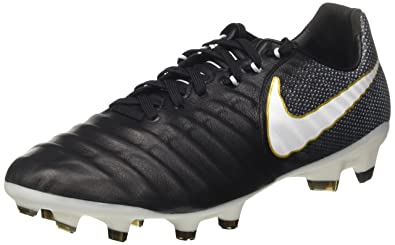 Nike Tiempo Legacy III FG, Chaussures de Football Homme, Noir (Black/White-Black-Metallic Vivid Gold), 42 EU