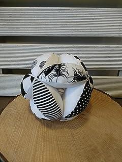 Monochrome puzzle ball, Montessori baby toy, fabric black and white ball, Ying Yang ball, monochrome nursery, black and white nursery