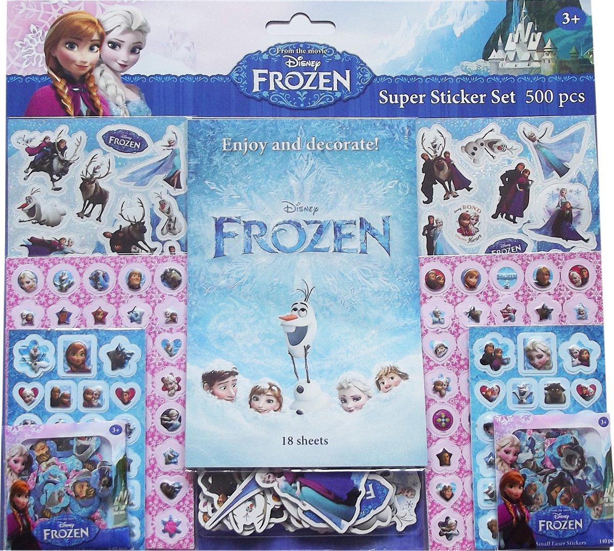 Unbekannt Jiri Models 0654-9 - Set Pegatinas Frozen (500 Unidades) Vv.Aa. Todolibro Y YB