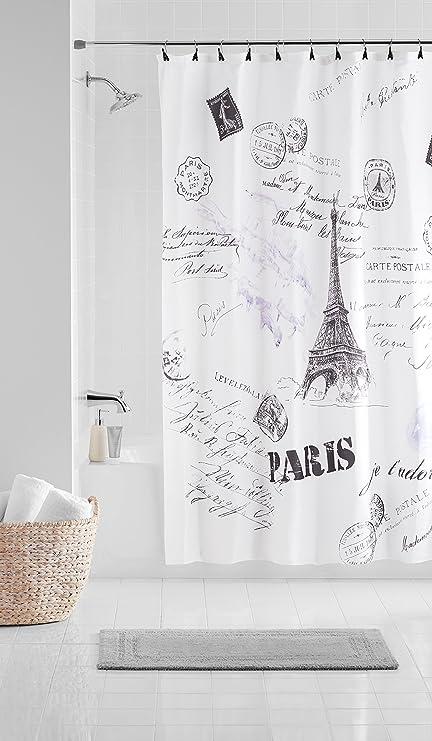 Casa Paris 13 Piece Shower Curtain Set 70 X 72 White