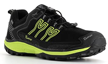 Kastinger Unisex Schuhe Damen und Herren Powertrail Trailrunner mit wasserdichter K-Tex Membran,Schnellschnürung, Leder-Halbschuh, (black/blue), 39