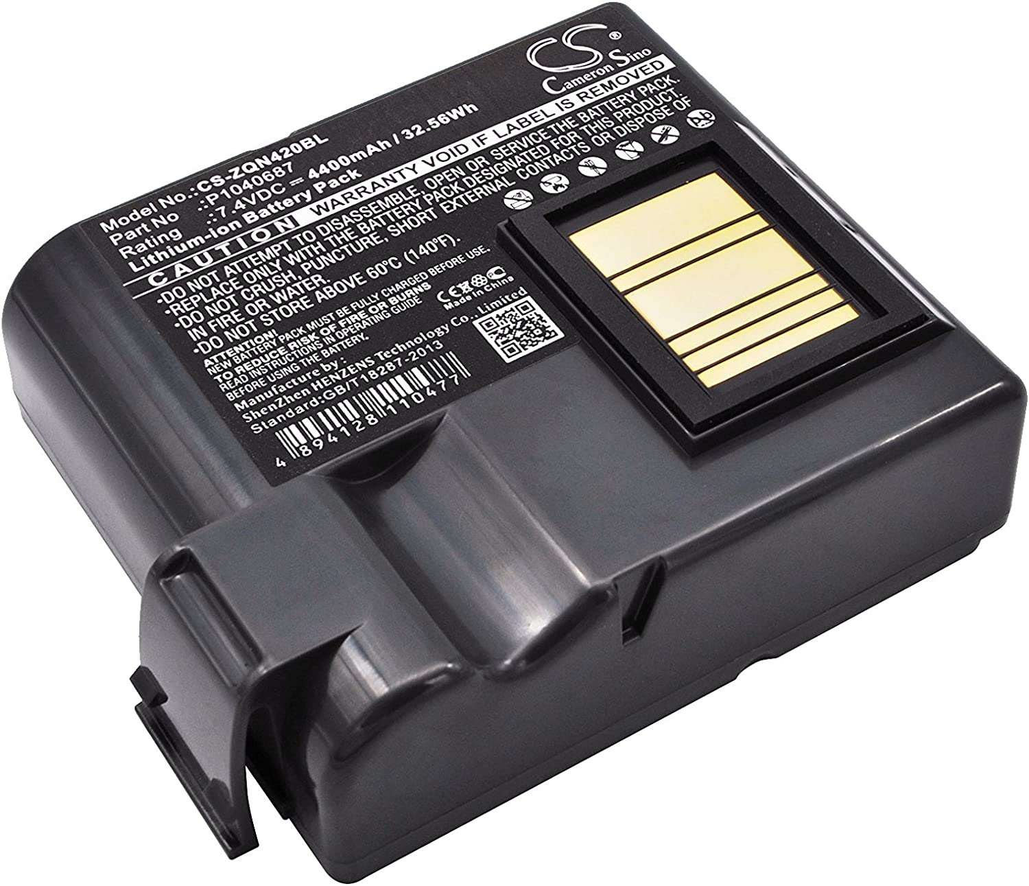 Replacement Battery for Zebra QLN420 P1040687 P1050667-016