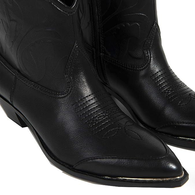 Parfois - Botines Cowboy - Mujeres - Tallas 40 - Negro: Amazon.es: Zapatos y complementos