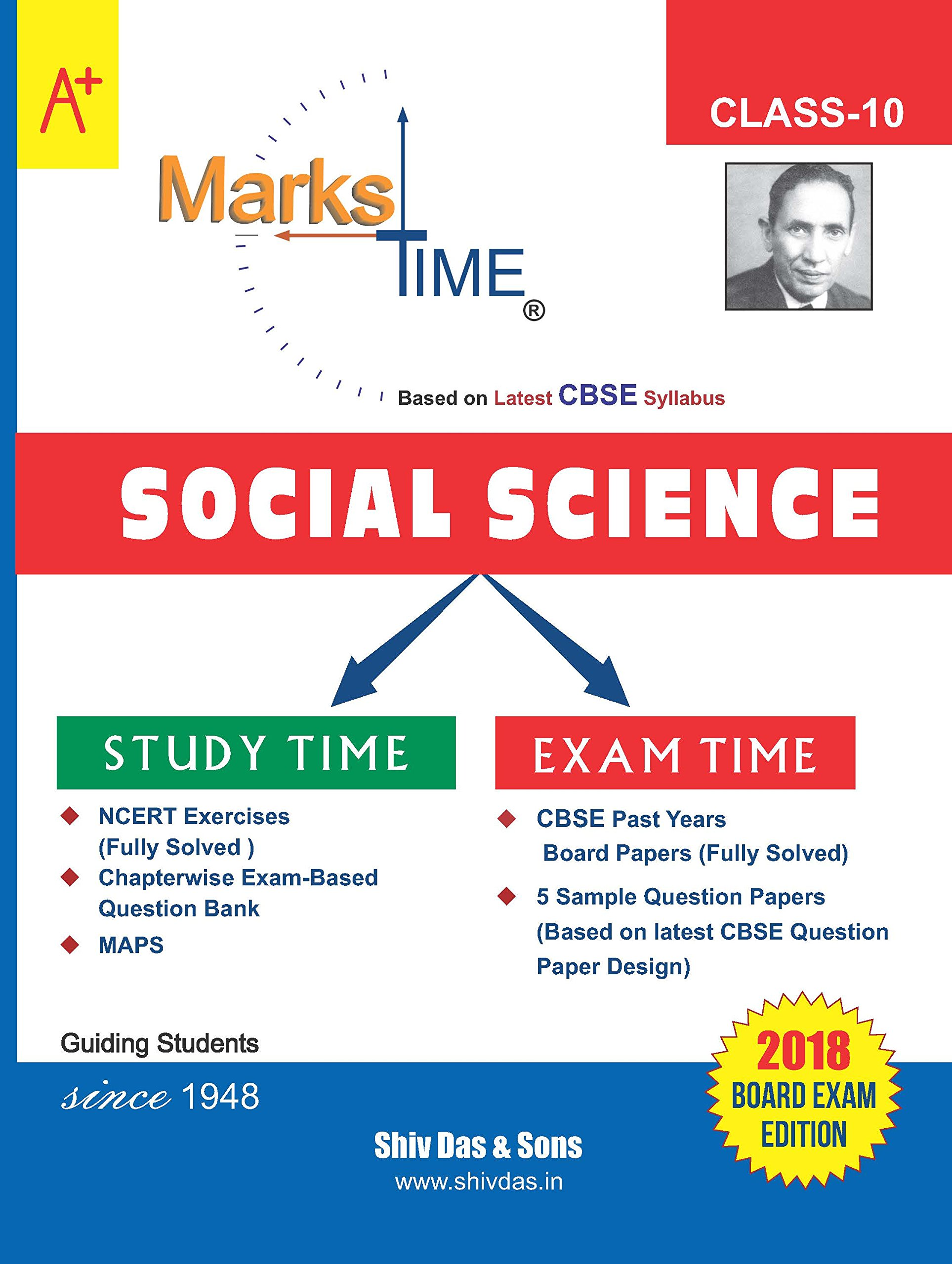 Marks Time CBSE Board Study Guide for Class 10 Social Science (2018 Board  Exam Edition