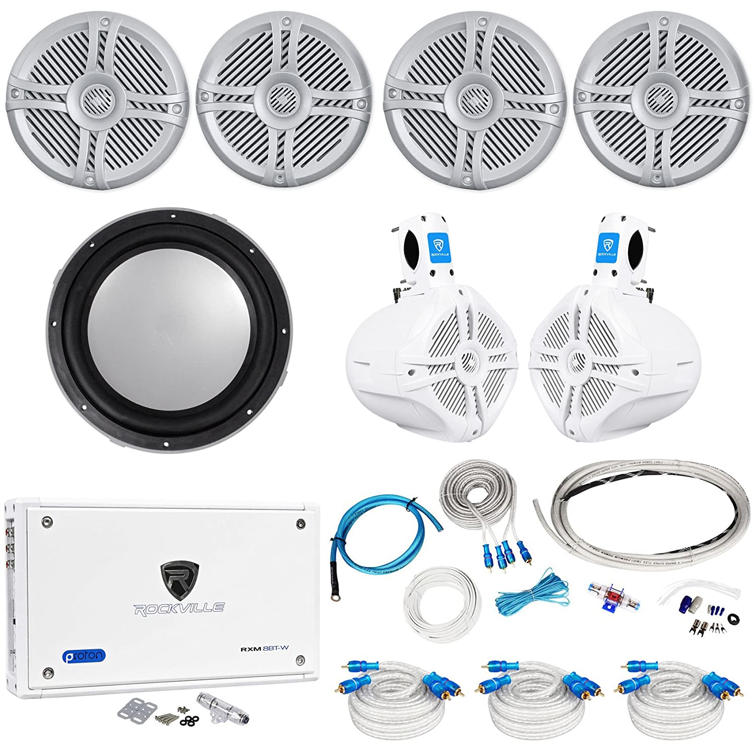 4 Rockville Rmsts65s 65 Marine Speakers Wakeboards Subwoofers Amplifiers At Sonic Electronix 2016 Car Release Date Kicker Sub Amp Wire Kit Electronics