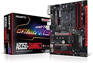 GIGABYTE GA-AB350-Gaming 3 (AMD RYZEN AM4/ B350/ RGB Fusion/ Smart Fan 5/ HDMI1.4/ M.2/ SATA 6Gbps/ USB 3.1 Type-A/ ATX/ DDR4/ Motherboard)