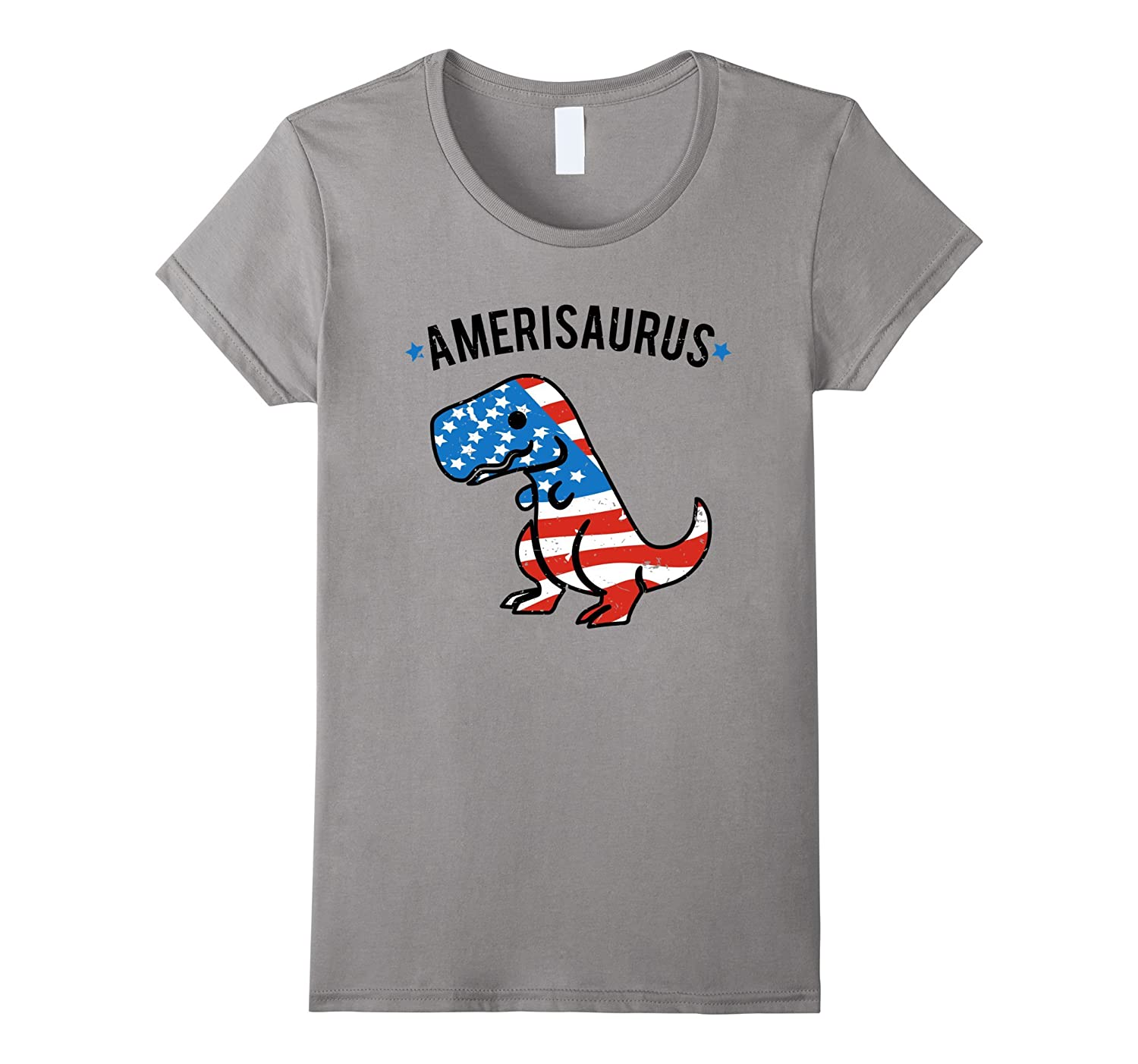 Amerisaurus Funny Independence Day T-Shirt-Yolotee