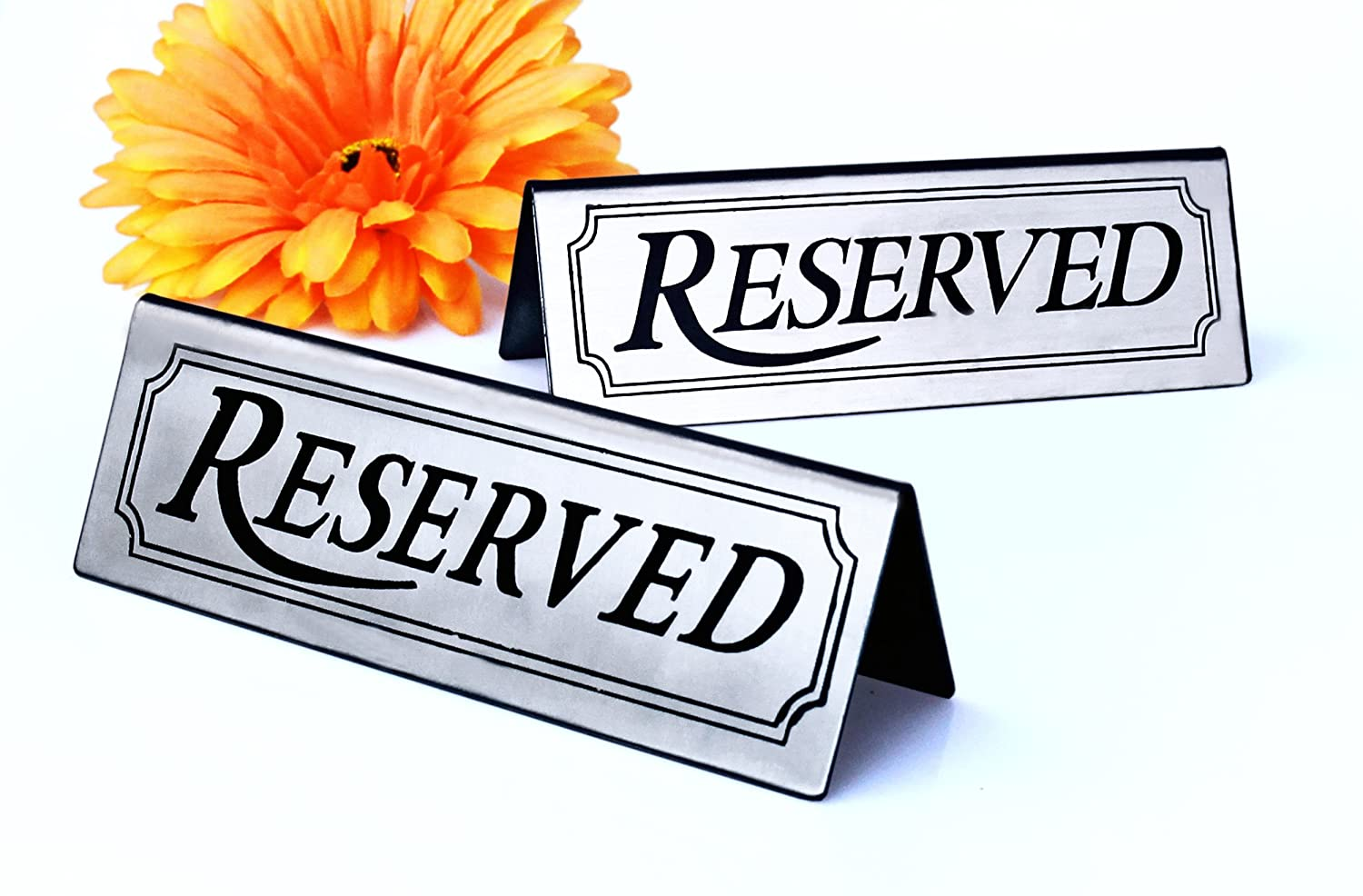 Reserved New Star Foodservice 26900 Stainless Steel Tent Sign 4.75x 1.75 Set of 6