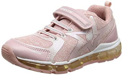 84165dd0229 Geox Android Girl 18 Sneaker, Rose/White, 24 M EU Toddler (8